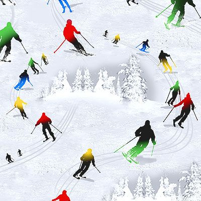 Chill Out Downhill Skiing Quilt Fabrics From Www
