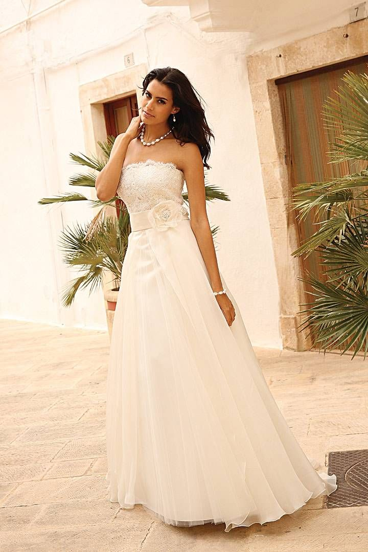 Linea Raffaelli - Romantic organza wedding dress