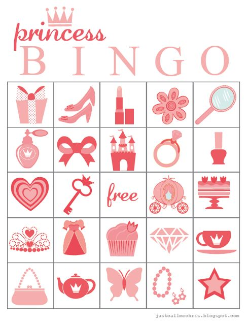 christina williams: Princess Bingo Printable
