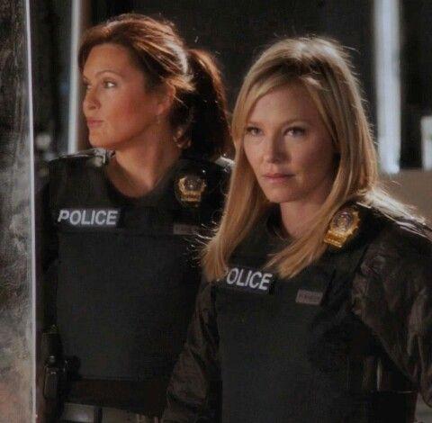 Mariska Hargitay & Kelli Giddish  AKA as Olivia Benson & Amanda Rollins