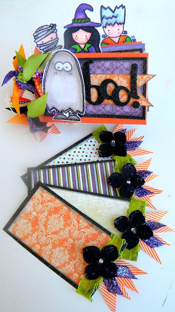 BOO Halloween Toilet Paper Roll MINI Album by createserendipity07
