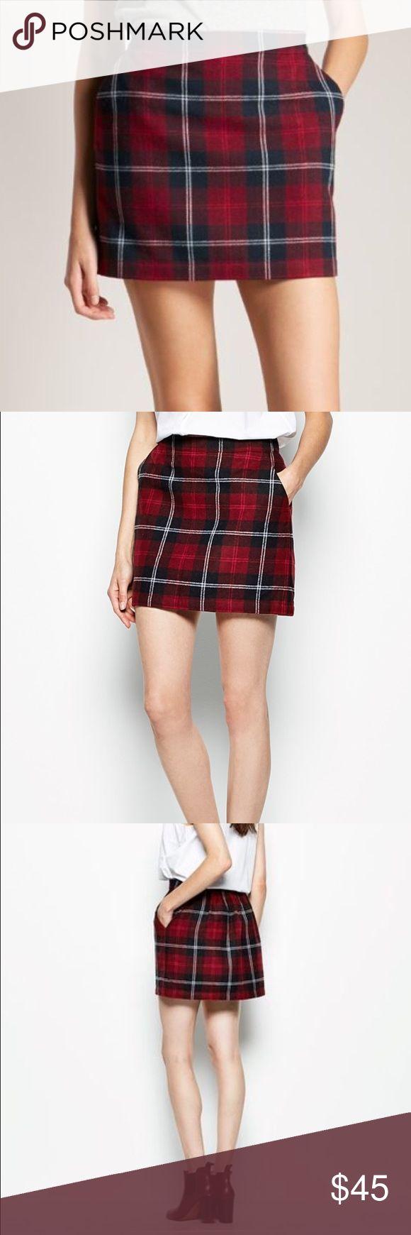 Jack Wills Eberton Skirt Jack Wills wool plaid mini skirt with pockets. Jack Wills Skirts Mini