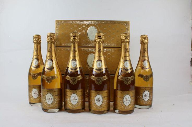+CRISTAL+ROEDERER+6+Bouteilles+de+champagne+brut+millésime+1990+dont+3+dans+leur+coffret+-+Le+Calvez+&+Associés+-+13/02/2016