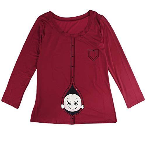 BESTOYARD Camiseta de Mujer Moda Primavera Verano Tamaño Grande Mujeres Embaraz…