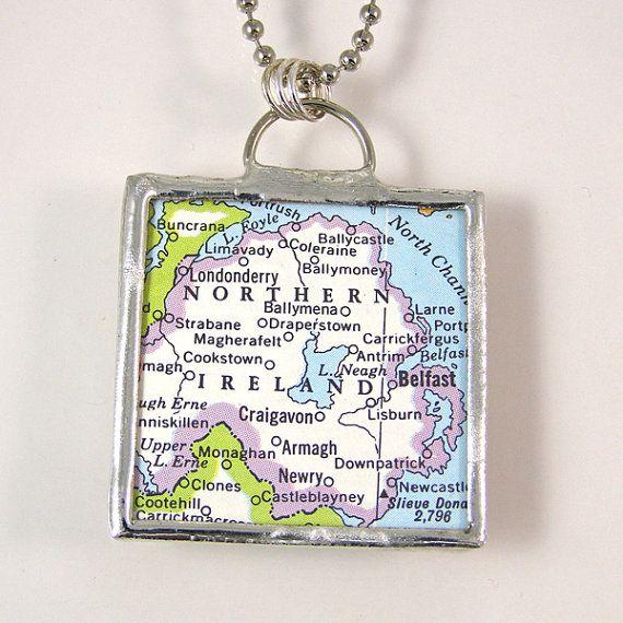 Gift Box Ballymena : Best ideas about northern ireland map on