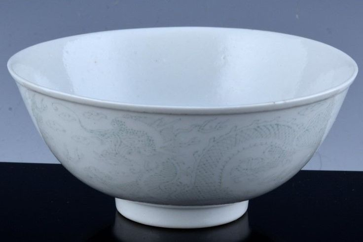 VERY RARE c1880 CHINESE IMPERIAL GUANGXU ANHUA DRAGON PORCELAIN BOWL VERMEER