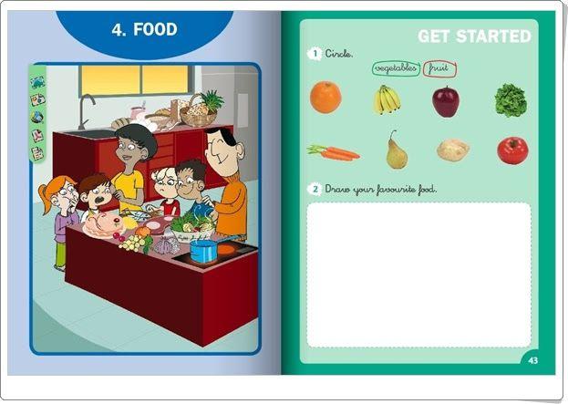 """Unidad 3 de Natural Science de 1º de Primaria: """"Healthy food"""""""