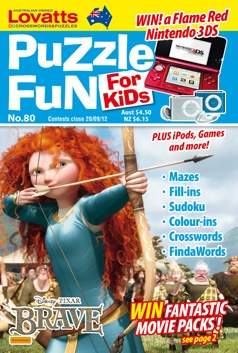 Puzzle Fun For Kids - Handy pocket size magazine perfect for junior puzzlers
