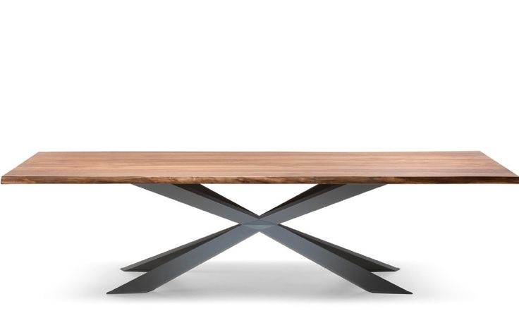 B5802B Spark <br> Solid wood or veneer dining table. Customisable.