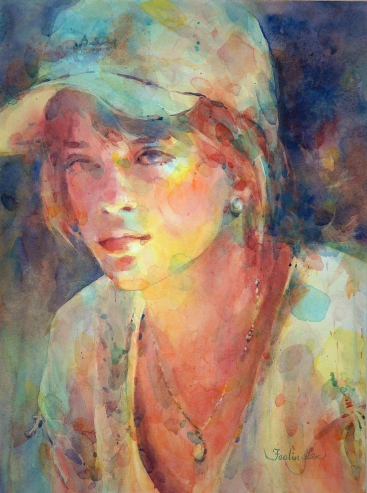 257 best art watercolor portraits images on pinterest for Watercolor painting images