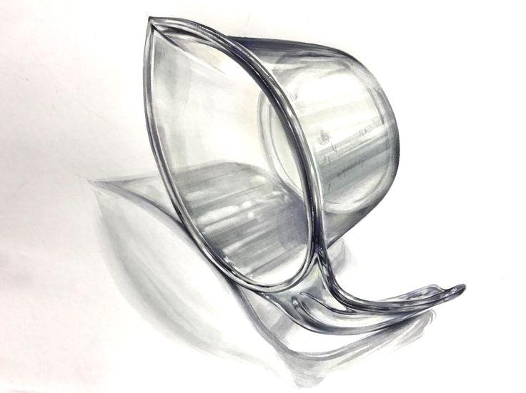 HY 기초디자인 플라스틱 컵 개체묘사