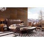 $3,389.00 VIG Furniture - Caesar Italian Classical Design Leather Platform Bed - VGWCTEM-8C301A