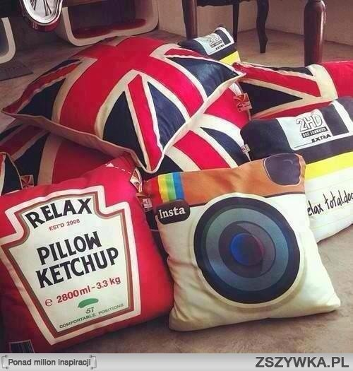 Quirky throw pillows...wow I didn't even know I say quirky...