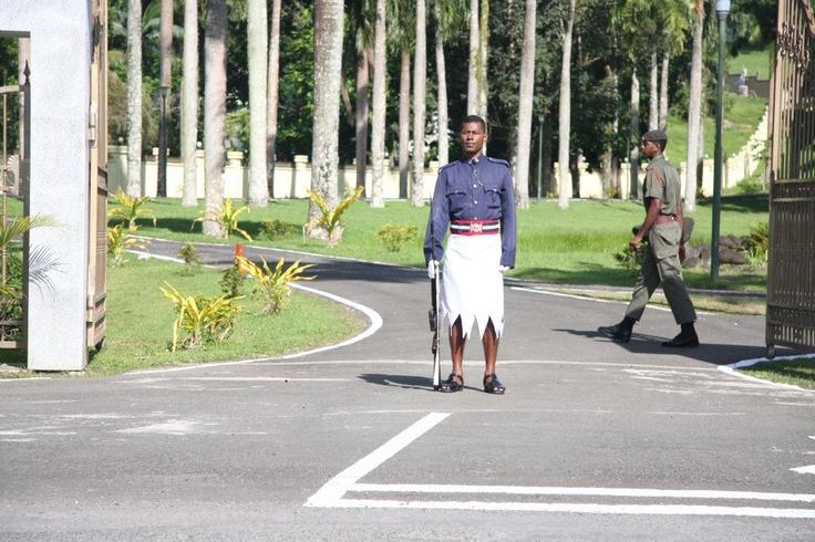 guards @ parliament house, Suva. #Fiji Photo by: Sera Fotofili