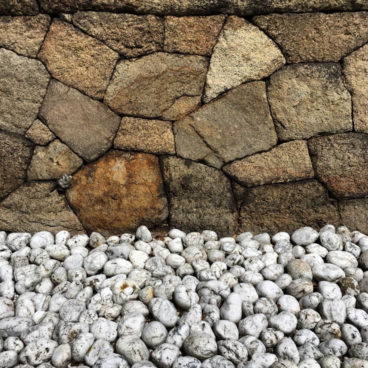 Stone wall and Quartz stones