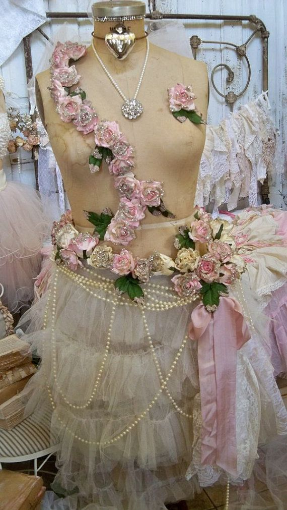 shabby chic very detailed vintage mannequin by