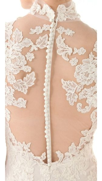 lace gown with gorgeous detailing