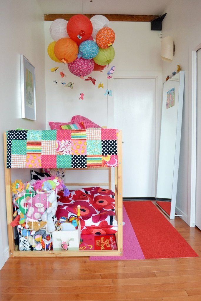 This little girl's bedroom in her family's Boston loft features the most colorful transformation of the Myd...