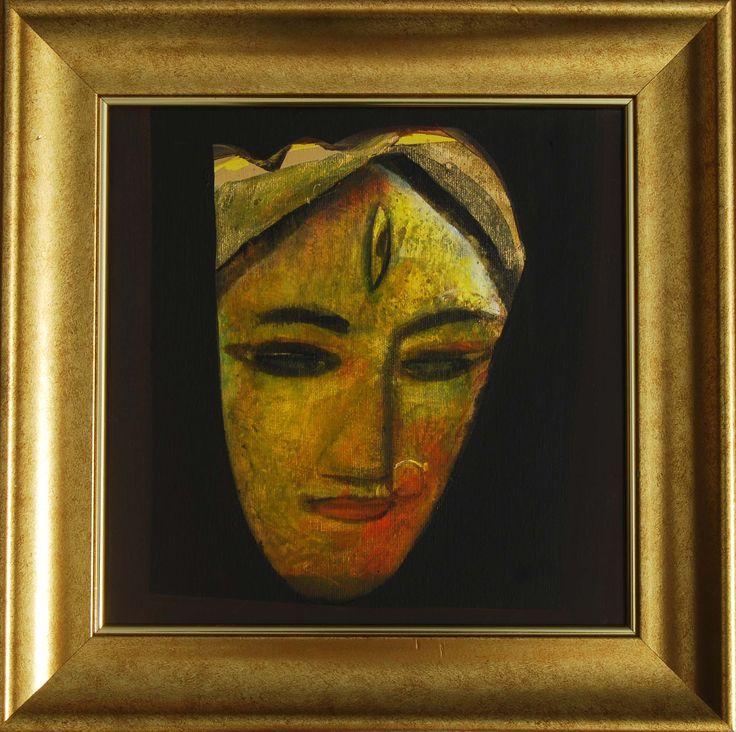 Tapas Ghosal Portrait III Acrylic on Canvas Paintings Eikowa