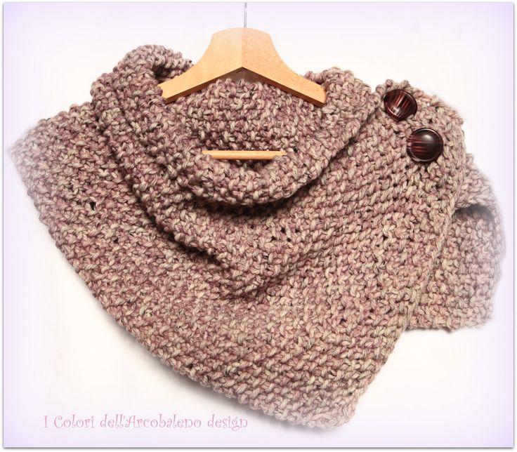 Scaldacollo stola lana sciarpa ai ferri di ColoriDellArcobaleno, €29,00