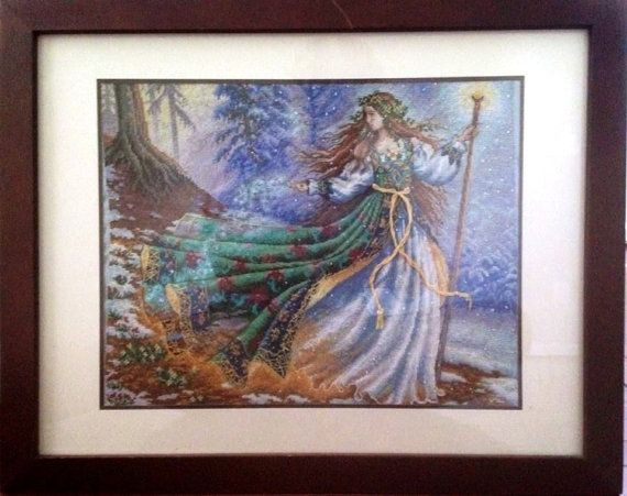 Completed Cross Stitch in Frame Woodland by dannileifer on Etsy, $139.99