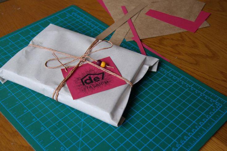 #de7tasarim #handmadejournal #packaging gift packaging