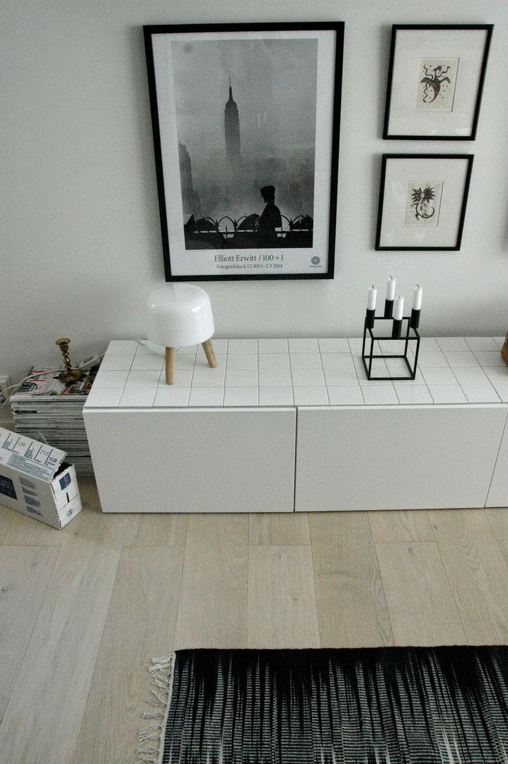Ihan huippuhyvä idea / moderni puutalo: Bestån päällystys jämälaatoilla