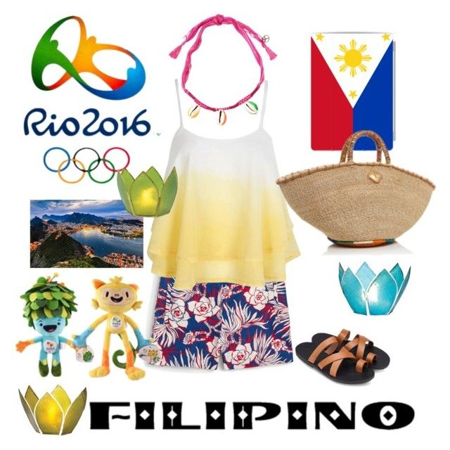 """""""Rio 2016-Philippines"""" by lisagrace303 on Polyvore featuring J.Crew, Cultural Intrigue, Casetify, Aranáz, ZALORA, Aurélie Bidermann, Philippines, rio2016 and RioOlympics"""