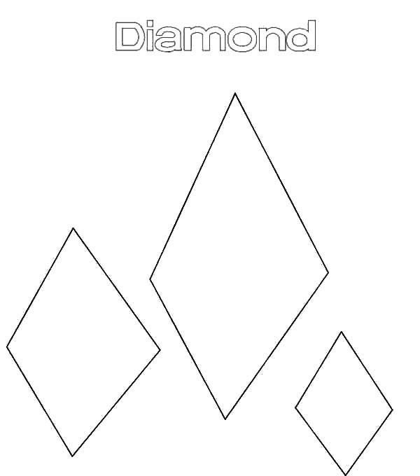 Diamond Shape Drawing Diamond Shape Coloring Pages