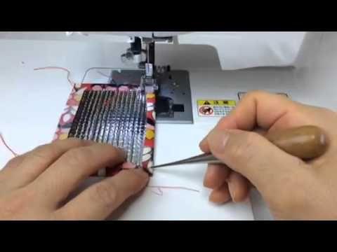 主婦のミシン、アルミ保冷シートの縫い方 - YouTube