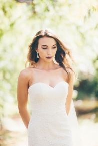 Alexis- Classic strapless full lace fit and flare