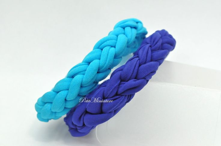 Bracciale treccia in lycra elastico