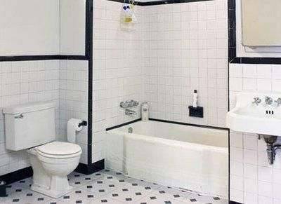 Black And White Bathroom Ideas: Black And White Tiled Bathroom Part 57