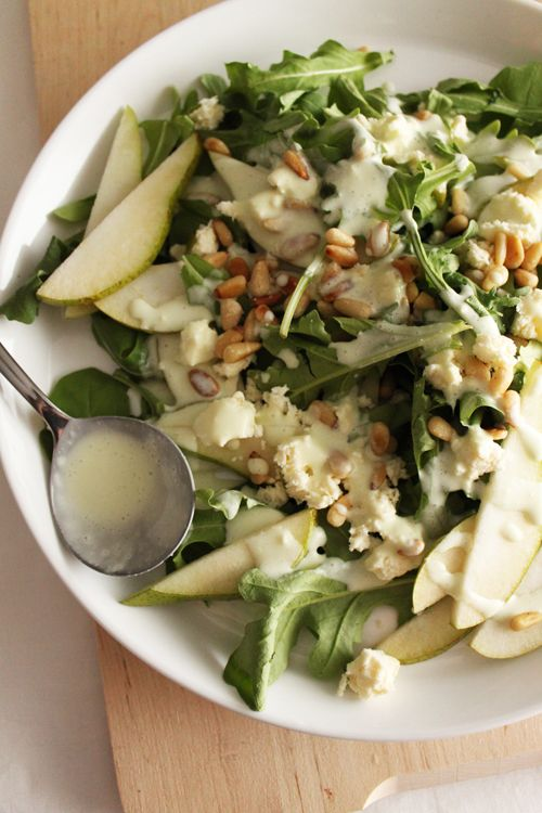 food on paper: Basil and Yoghurt Salad Dressing