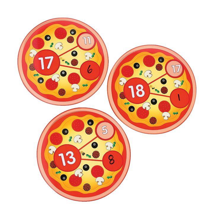 Pizza Number Bond Wheels - OrientalTrading.com