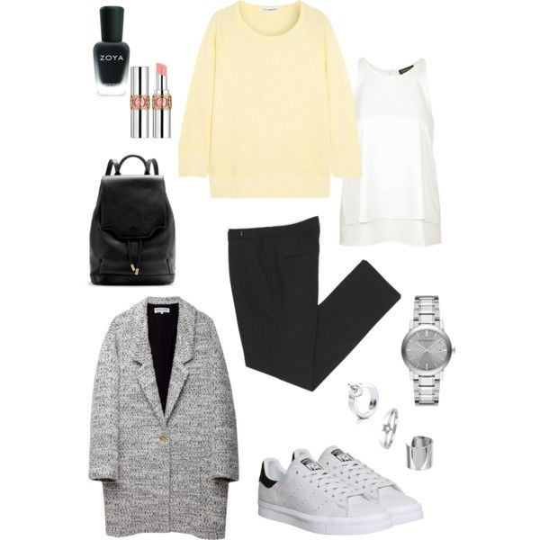 A fashion look from January 2015 featuring James Perse, white tops and long coat. Browse and shop related looks.