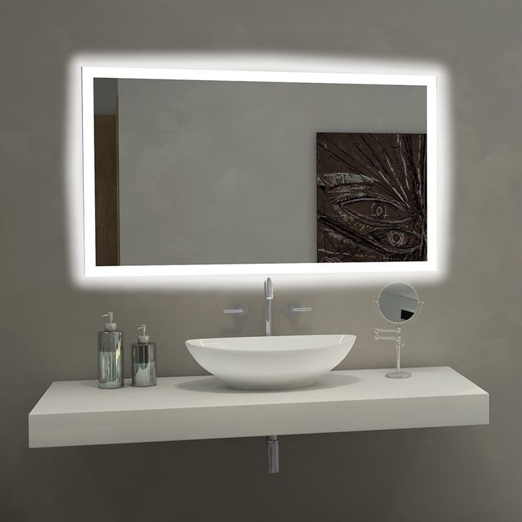 mirror rectangle bathroom led rect2028 wall mirrors walmart large with lights