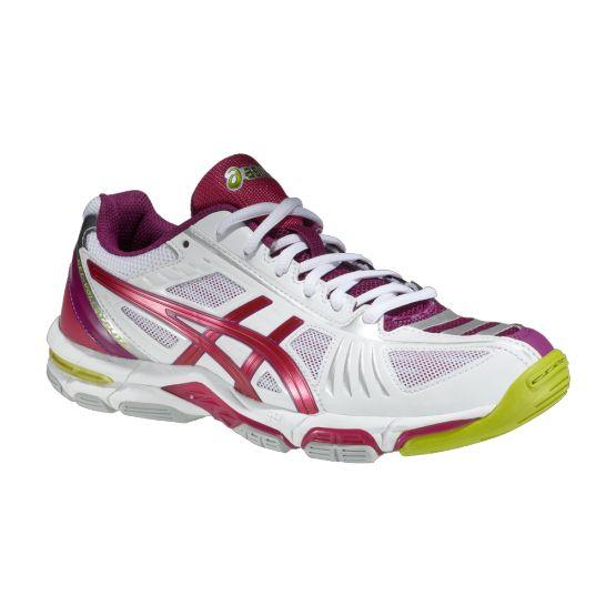 Asics Gel-Volley Elite 2 női kézilabda & röplabda  teremcipő, fehér,pink,neon zöld