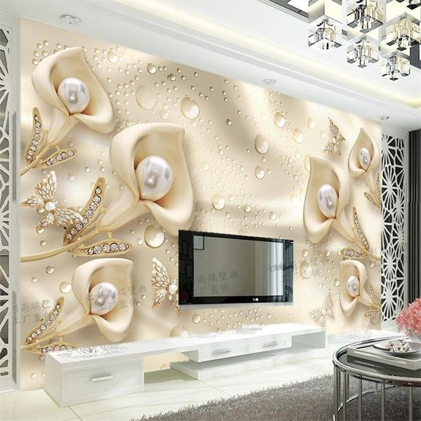 Simple Custom Background Of Modern Tv Wall Paper Living Room 3d Stereo Video Wall Mural Wallpaper Wallpaper Qiangbu European 5d Modern Tv Wall Tv Wall Video Wall