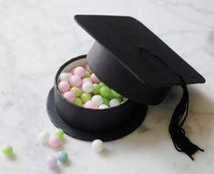 Conjunto de 12 Grad graduación sombrero fiesta Favor regalo cajas College High School
