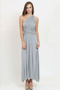 We love this maxi and all the ways you can create your own great look! Find new ways to twist the silky material and play with neckline styles that fits your mood!   Material has generous amount of stretch.   95% Rayon 5% Spandex  See more at www.maceeleigh.com/#latangela