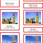 This is a pdf file containing 3 part Montessori cards. It includes 9 landmarks from France, Norway, Germany, England, Italy, and Spain. Students ca...