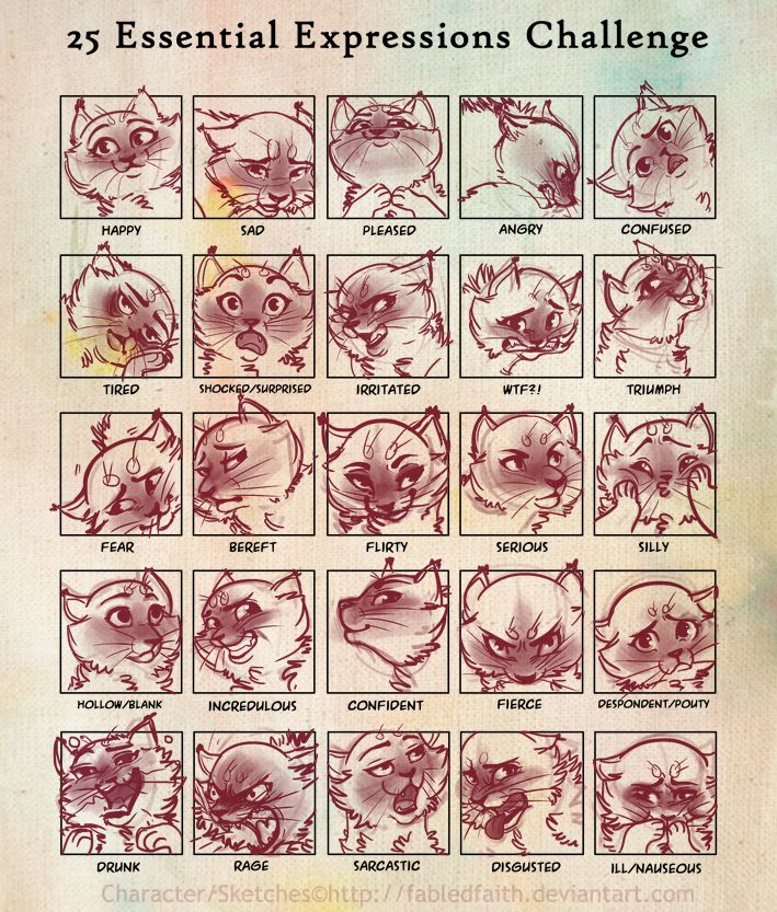 25 Expressions Challenge by ~FabledFaith on deviantART