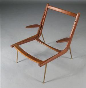 Køb og sælg moderne, klassiske og antikke møbler - Peter Hvidt & Orla Mølgaard-Nielsen. Boomerang-Chair. Hvilestol - DK, Aarhus, Egå Havvej