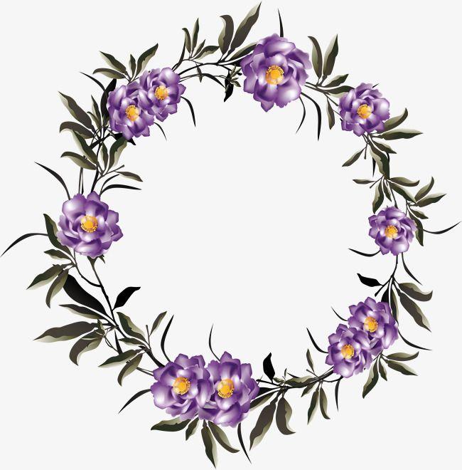 50++ Purple flower wreath clipart ideas