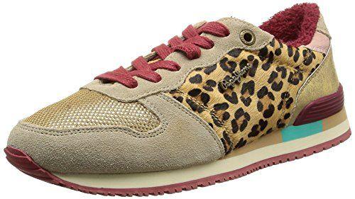 Pepe Jeans London GABLE ANIMAL PRINT Damen Sneakers - http://on-line-kaufen.de/pepe-jeans/pepe-jeans-london-gable-animal-print-damen