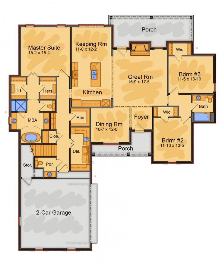 17 Best Images About House Plans Under 3000sq Ft On