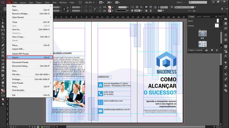 Olá Pessoas! Hoje vim trazer para vocês um tutorial sobre como podemos criar um panfleto com 2 dobras no InDesign. Os processos são simples e bastante fáceis para que qualquer pessoa mesmo com pouco conhecimento na ferramenta, possa usar sem dificuldade. Vamos lá! 1º Tamanho do Documento Abra o InDesign e clique no Menu File/Arquivo […]
