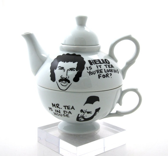 Hello is it Mr Tea You're Looking For Tea For One by LennyMud, $40.00
