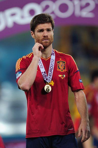 Xabi Alonso Spain v Italy - UEFA EURO 2012 Final